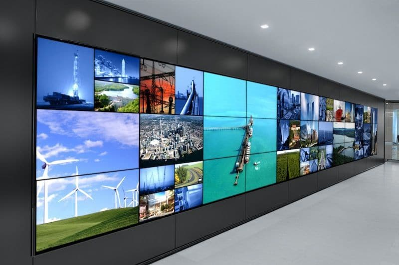mur video LCD