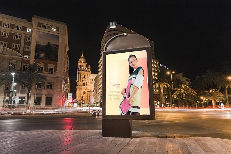 écran publicitaire abris de bus