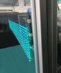 échantillon X7-air sur une vitre