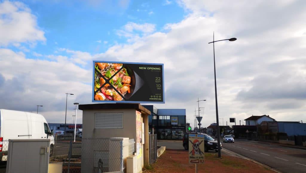 écran publicitaire LED extérieur