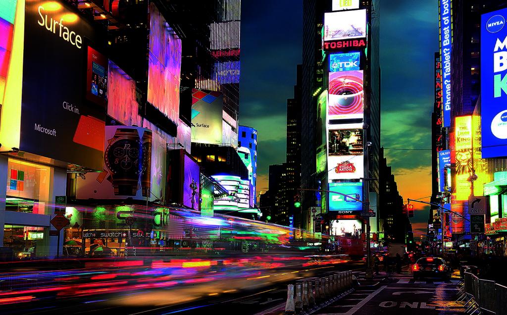 écran géan tTime square - affichage dynamique