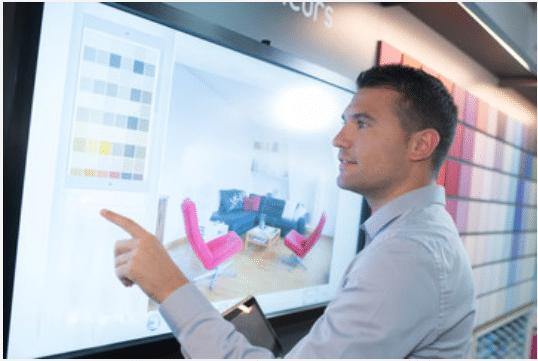 ecran moniteur tactile magasin décoration