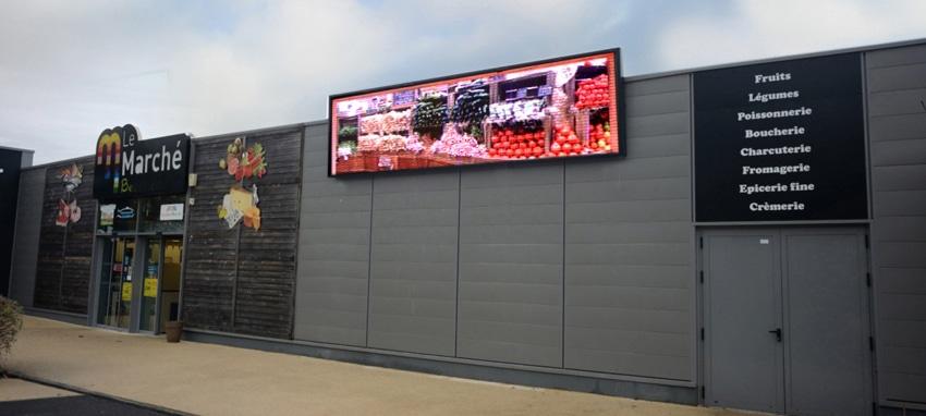 écran bandeau magasin bio