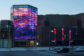 ecran media facade mesh