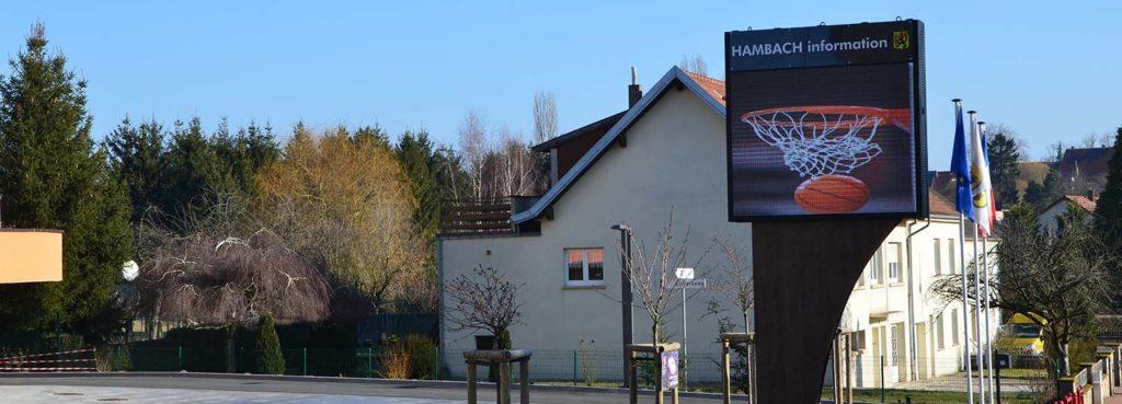écran informations mairie ville de Hambach