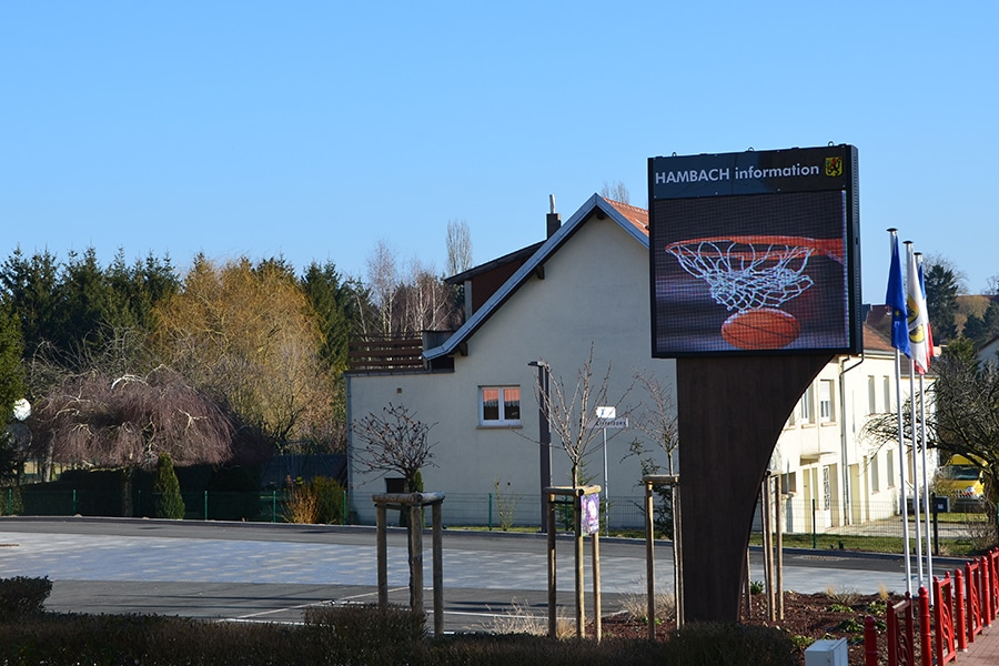 écran LED Mairie de Hambach