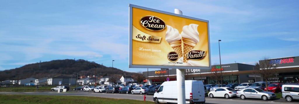 écran publicitaire LED