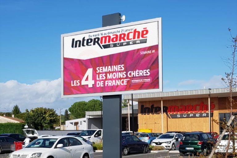 écran géant extérieur - Intermarché Berguey Cadillac