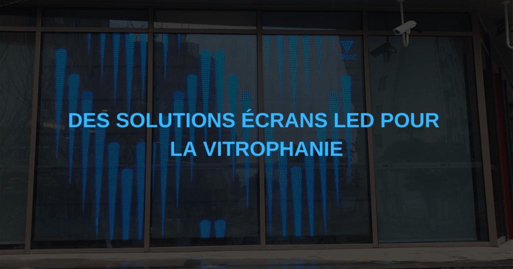 écran en vitrine et vitrophanie numérique