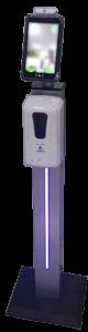 détecteur de température avec distributeur de gel hydroalcoolique