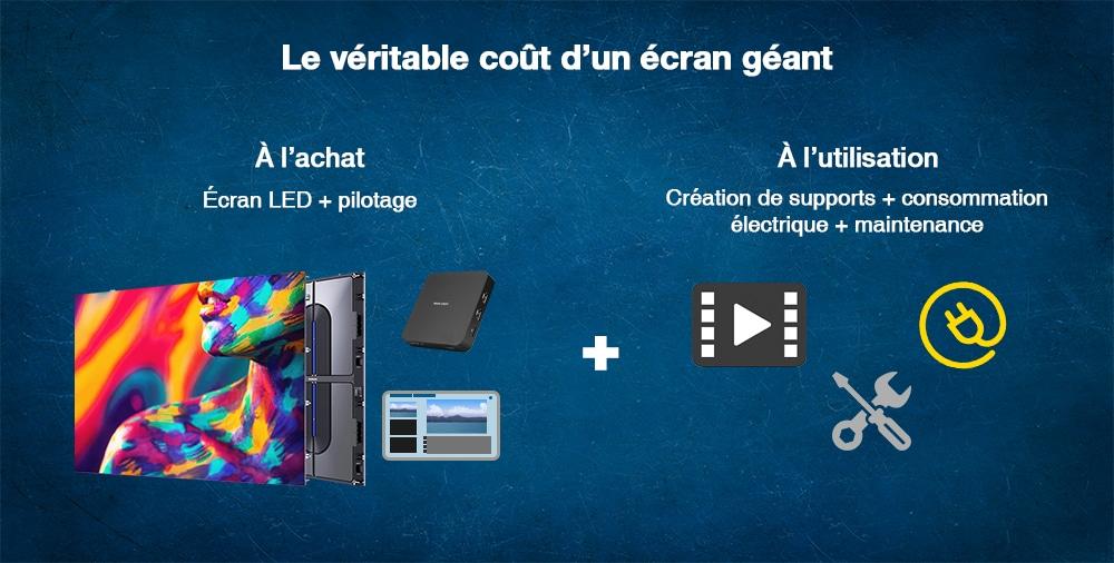illustration véritable cout écran géant LED